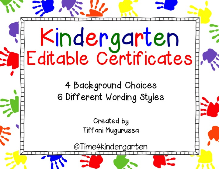 Kindergarten Certificates Completion Diploma Editable inside Best Free 6 Printable Science Certificate Templates