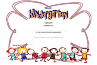 Kindergarten Completion Certificate Templates 9 Best intended for Lifeway Vbs Certificate Template