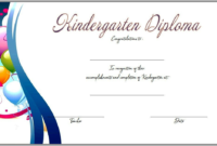 Kindergarten Completion Certificate Templates 9 Best intended for Quality Certificate For Best Dad 9 Best Template Choices