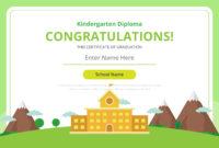 Kindergarten Diploma Certificate Template  Download Free for Pre Kindergarten Diplomas Templates Printable Free