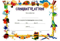 Kindergarten Diploma Certificate Templates 10 Designs Free intended for Preschool Graduation Certificate Free Printable