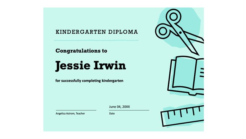 Kindergarten Diploma Certificate with regard to Amazing Preschool Graduation Certificate Free Printable