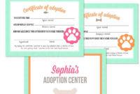 Kitten Certificate Of Adoption  Certifikit  Adoption regarding Cat Adoption Certificate Template 9 Designs