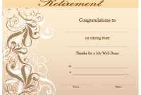 Kleurplaten Retirement Certificates Templates Free pertaining to Amazing Free Retirement Certificate Templates For Word