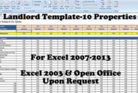 Landlords Spreadsheet Template Rent And Expenses Spreadsheet inside Rental Payment Log Template