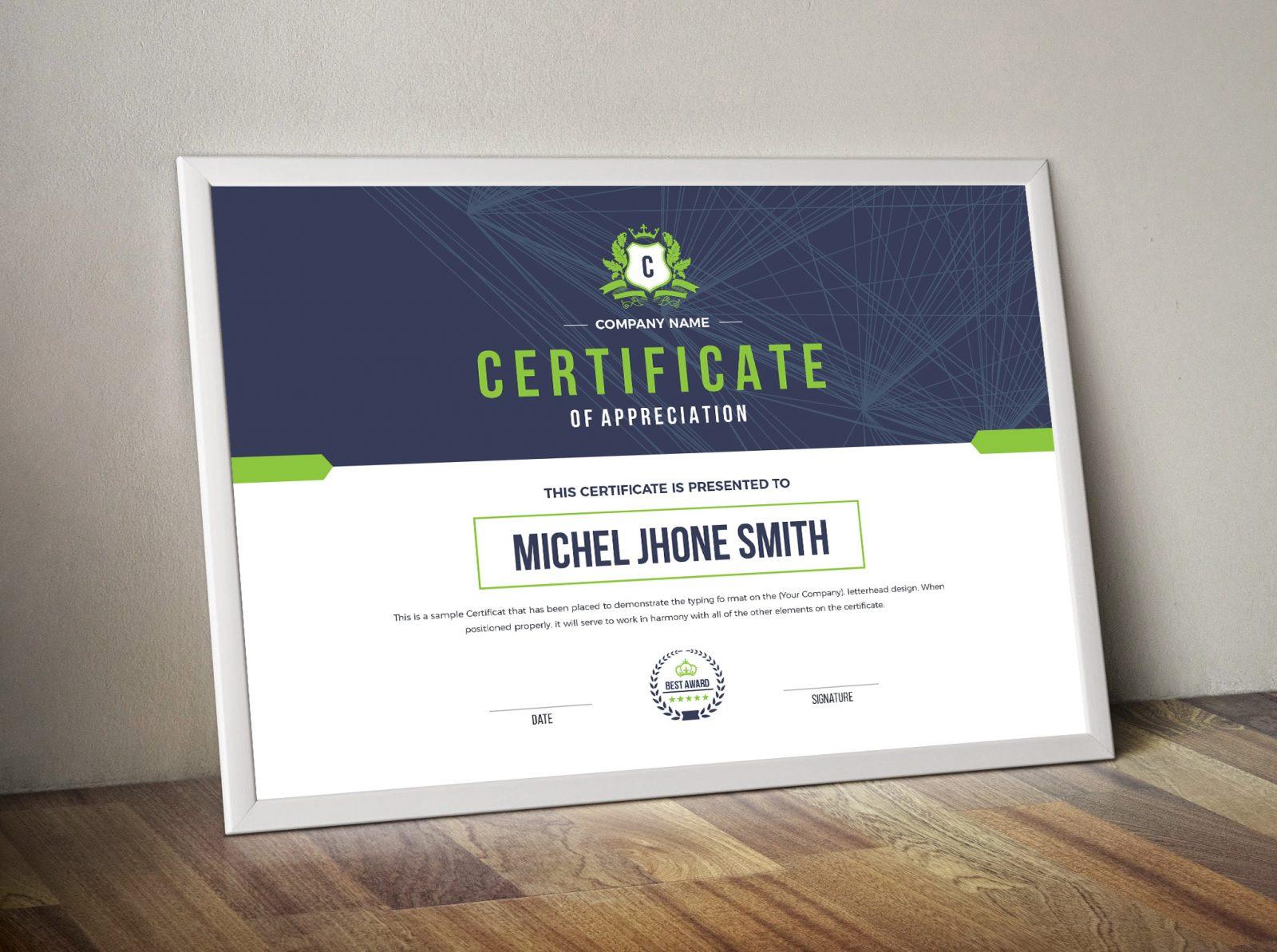 Landscape Certificate Template 4  Template Catalog within Quality Landscape Certificate Templates