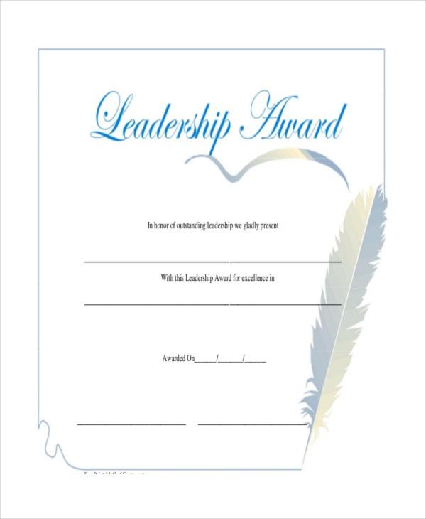 Leadership Certificate Template  11 Word Pdf Psd with Amazing Student Leadership Certificate Template