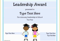 Leadership Certificate Template Free Of Certificate inside Quality Leadership Award Certificate Template