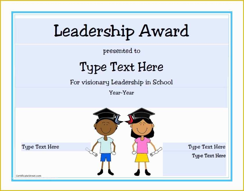 Leadership Certificate Template Free Of Certificate inside Quality Leadership Award Certificate Template