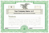 Llc Member Certificate Template  Latter Example Template with regard to Awesome Llc Membership Certificate Template