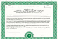 Llc Members Unit Ledger Book  Golfschulemittersill within Share Certificate Template Companies House
