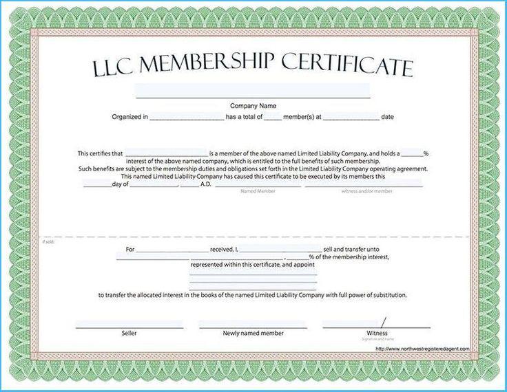 Llc Membership Certificate Template 8 In 2020 With pertaining to Awesome Llc Membership Certificate Template