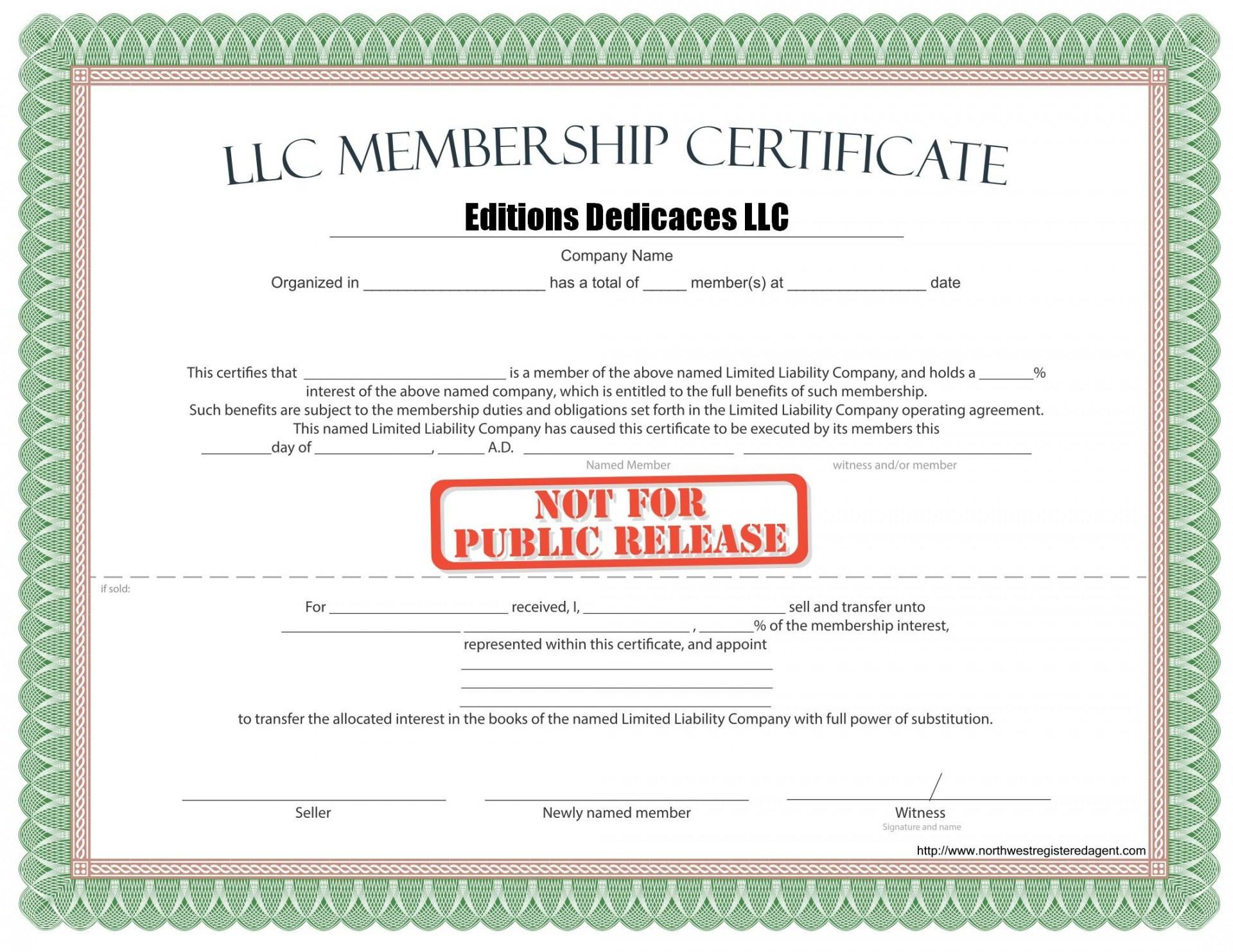 Llc Membership Certificate Template Word  Douglasbaseball in Awesome Llc Membership Certificate Template