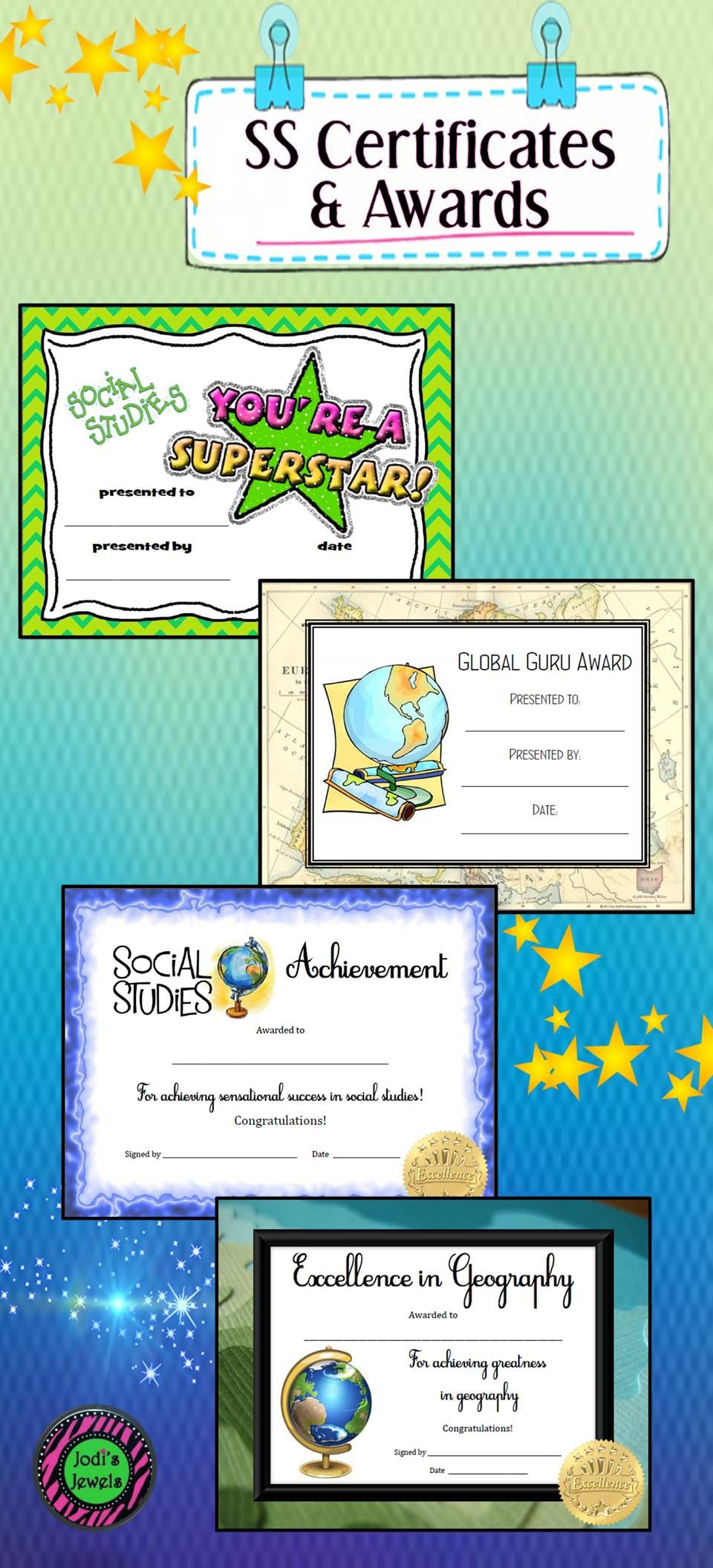 Login  Social Studies Awards Social Studies Middle inside Editable Certificate Social Studies