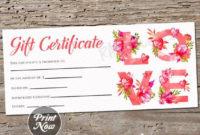 Love Flower Printable Gift Certificate Template inside Anniversary Gift Certificate Template Free