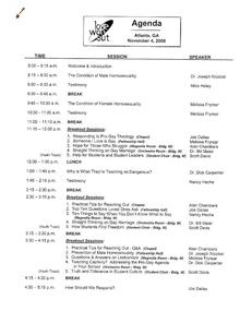 Love Won Out  Wikipedia pertaining to Church Business Meeting Agenda Template