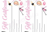 Makeup Gift Certificate Printable Template Christmas pertaining to Awesome Mary Kay Gift Certificate Template