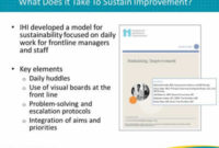 Management Practices For Sustainability  Module 1 with Free Daily Huddle Agenda Template