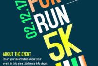 Marathon Race Advertisement Poster Flyer Social Media intended for Marathon Certificate Template 7 Fun Run Designs