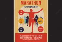 Marathon Tournament Flyer Template Retro Flat Design regarding Quality Marathon Certificate Template 7 Fun Run Designs