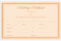 Marriage Certificate 30  Word Layouts with regard to Quality Free Certificate Templates For Word 2007