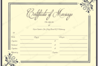 Marriage Certificate 34  Word Layouts  Marriage regarding Free Certificate Of Marriage Template