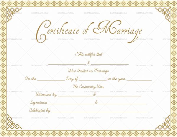 Marriage Certificate Format  Editable Designs In Word in Blank Marriage Certificate Template
