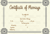Marriage Certificate Template Flowers 1865 inside Quality Marriage Certificate Template Word 10 Designs