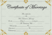 Marriage Certificate Template Grey Gold 1872 In 2020 with regard to Marriage Certificate Editable Template