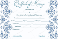 Marriage Certificate Template Microsoft® Word  Dotxes with regard to Marriage Certificate Template Word 10 Designs