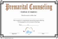 Marriage Counseling Certificate Template 7 Beautiful pertaining to Free Printable Best Husband Certificate 7 Designs
