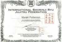 Martial Arts Gift Certificate Template Karate Certificates intended for Karate Certificate Template