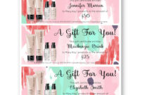 Mary Kay Gift Certificate Template Free Download Within inside Mary Kay Gift Certificate Template