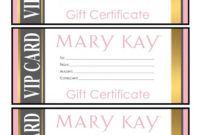 Mary Kay Gift Certificates  Please Email For The Full Pdf intended for Mary Kay Gift Certificate Template