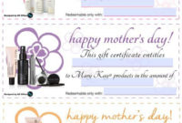Mary Kay® Mother'S Day Gift Certificates Wwwmarykay inside Awesome Mary Kay Gift Certificate Template