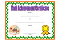 Math Achievement Certificate Template 4 Free Download  Op pertaining to Math Award Certificate Templates