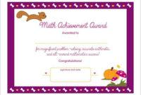 Math Achievement Printable Award Certificate Us Spelling for Math Achievement Certificate Printable