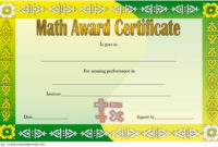 Math Award Certificate Template Free 3 Certificate In throughout Merit Certificate Templates Free 10 Award Ideas
