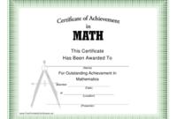 Math Certificate Of Achievement Template Download with regard to Best Math Achievement Certificate Templates