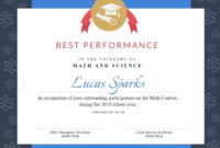 Math Contest Certificate Template Visme For Math for Math Achievement Certificate Printable