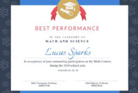Math Contest  Certificate Template  Visme Pertaining To within Pageant Certificate Template