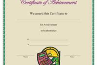 Mathematics Achievement Certificate Template Download within Free Math Certificate Template