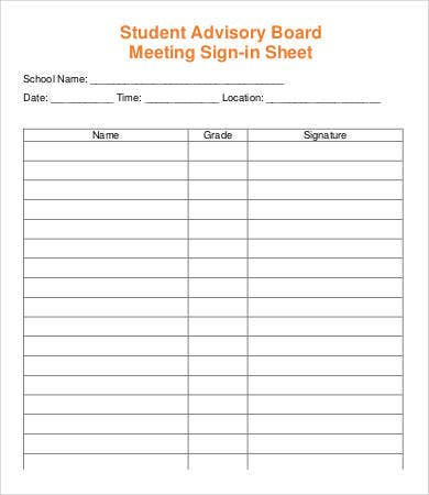 Meeting Sign In Sheet Template  13 Free Pdf Documents within Quality Safety Committee Agenda Template