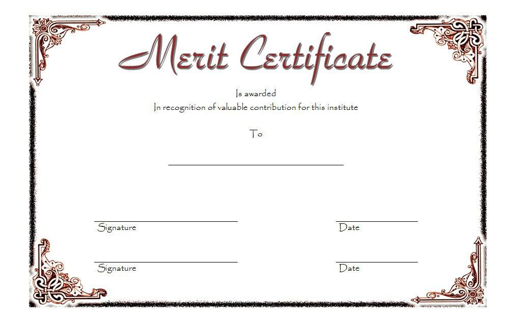 Merit Certificate Templates Free Top 10 Award Ideas throughout Diploma Certificate Template Free Download 7 Ideas