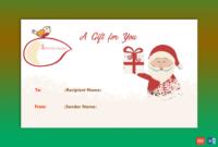 Merry Santa Christmas Gift Certificate Template  Gct with Free Merry Christmas Gift Certificate Templates