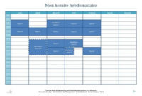 Mettre Au Point Son Planning Hebdomadaire  Illustration within Planning Session Agenda Template