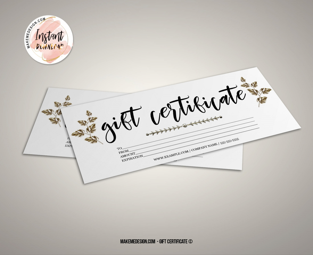 Minimalist Gift Certificate Modern Gift Certificate inside Quality Free Editable Wedding Gift Certificate Template