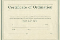 Minister License Certificate Template  Carlynstudio for Best Certificate Of Ordination Template