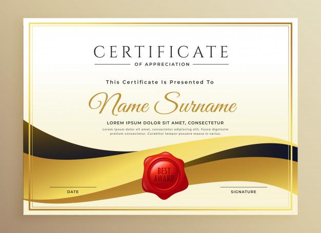 Modern Premium Certificate Template Design  Free Vector regarding Design A Certificate Template