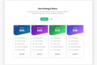 Modern Pricing Table With Images  Pricing Table Psd with regard to All Hands Meeting Agenda Template